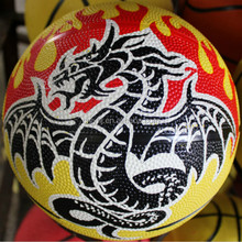 Good quality promotional custom rubber basketball for promotion