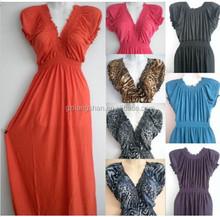 2015 OEM Cheap Fashion PLUS SIZE Women Long Maxi Cap Sleeve summer beach party hawaiian evening sundress free prom night dress