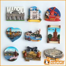Varies Resin City Tourist Souvenirs Fridge Magnet, Custom 3D Resin Fridge Magnets
