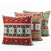Sofa Decorative Custom Cotton Canvas Large Custom Embroidery Vintage Cushion Cover Wholesale Throw Pillow Case HT-CCWEC-B-21-23