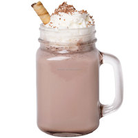 Popular christmas products 16oz 20oz drinking colored glass mason jar with handle and straws lids