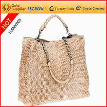 Korean hobo pu leather handbag hot sale