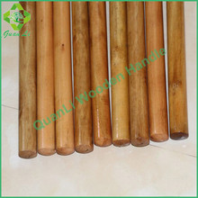 well polished vassoura mop wooden pole in lacquered treated flat end italian thread
