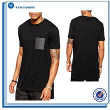 Men 100 cotton t shirts wholesale short sleeve chest pocket t shirt