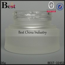 alibaba manufacturer frost 30g personalized glass bottle for cosmetic, new product custom made bottle