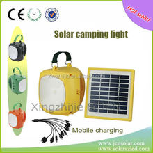 2014 hotsale powerful solar lamp with phone charger