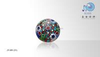 Glass decorative millefiori ball