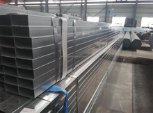 rectangular/square steel pipe/tubes/hollow section galvanized/black annealing for sale