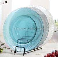 Round Clear Bead Glass Plate,Dinner Plate,Dessert Plate