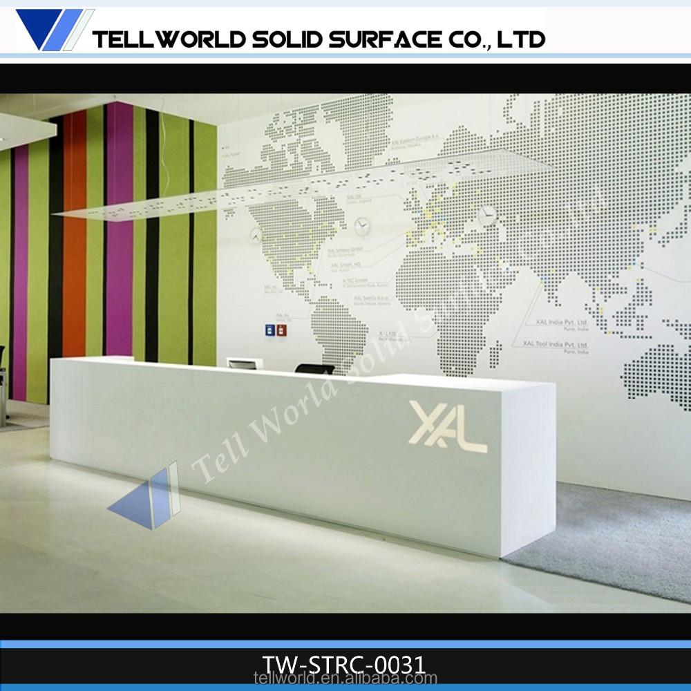 Stylish new design office reception desk small reception for Design office 4100