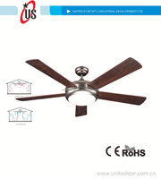 52' Decorative Ceiling Fan, Remote Control notebook usb fan with light