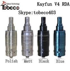 Tobeco wholesale kayfun v4 ss/black/blue kayfun atomizer 4 kayfun 4/v4 with best price