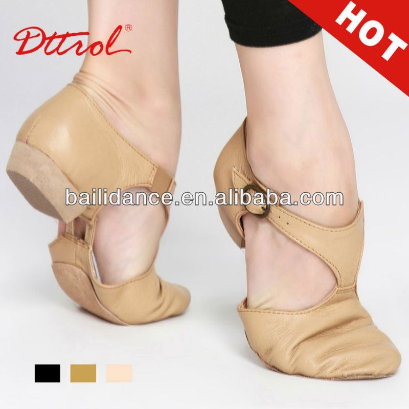 Fashion Womens Leather And Fabric Upper Jazz Dance Shoes More Colors Dttrol fashion pig leather
