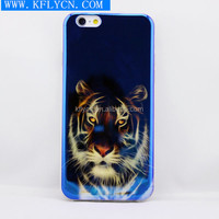 BLue Ray effect tiger picture case IMD cell phone case for iphone 5/5s/6