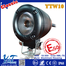 round shape led spotlight 24v for machinery10w led work lamp 2inch ip68 led off road light bar