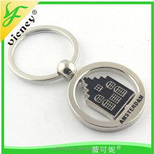 cheap promotional metal keychain tourist