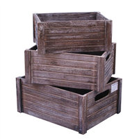 Vintage style wood fruit and vegetable crates, wooden storage box, tray and holder for sale