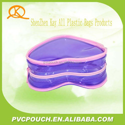 More kinds packing transparent PVC mini cosmetic bag with different shape