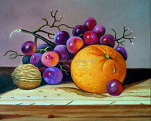 Shenzhen Wholesale Skillful Artists Hand Painted Fruit Oil Painting on Canvas