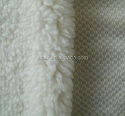 Jishengxiang textile 100% Polyester Knitted Warp Sherpa Fleece/Lamb Fur /Linning Fabric/Jacket Linning Fabric /Blanket Fabric