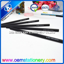 2015- promotion black wooden pencil / new style black pencil with printing /pencil for school