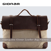 waterproof canvas with leather trims briefcases for men vintage bags