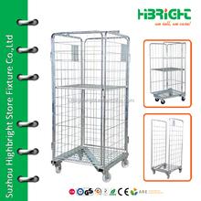 warehouse laundry folding storage roll cage