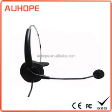High quality hot-selling monaural headphones call center headset with RJ/3.5mm/2.5mm stereo plug