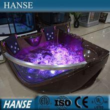 HS-B219 hot sale good quality corner two person massage bathtub