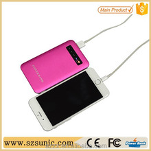 China market of electronic colorful portable power bank