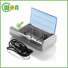 4 Slots Charger for NI MH AA AAA C D 1.2V Battery 9V Battery Charger