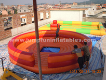 customize Inflatable for mechanical bull rodeo,inflatable mechanical bull mattress 5m dia