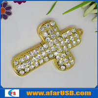 Cross jewelry USB flash drive,4GB metal USB flash memory fashion jewelry USB 4GB