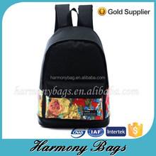 2015 customable girls rose color life printing computer backpack bag