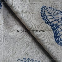 Blue butterfly fabric for antique furniture upholstery