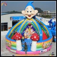 New designed inflatable tale slide with bounce house, inflatable jumping slide