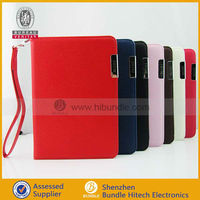 New coming Wallet leather case with credit card holder for iPad Mini