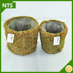 New Arrival 100% Handmade 2015 Hot Sell Round Moss Baskets