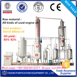 Waste motor oil to diesel fuel oil distillation machine in chongqing