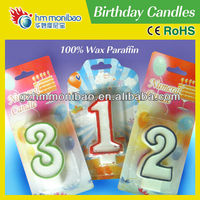 figure candles with birthday