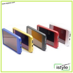 2600mAh Solar Charger External Battery Pack Power Bank For Cellphone iPhone 4 4s 5 5S 5C iPad iPod Samsung Portable