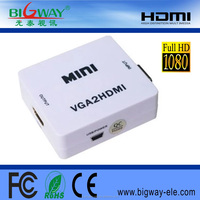 MINI HDMI to VGA converter cable male to female Adapter with Audio