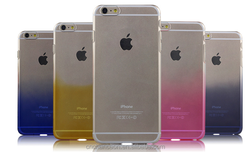 New style transparent gradient protective phone case cover for iphone 6 6plus, CO-PC-3030