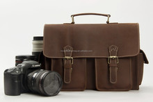 Genuine Leather DSLR Camera Bag, Professional Camera Bag 1088