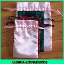 Drawstring satin gift bags for promotion