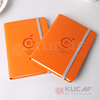 embossed logo pu cover A6 dairy