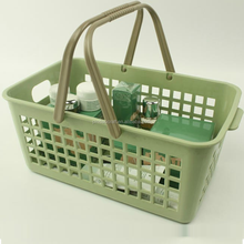 fashion plastic storage baskets with handle MSD038