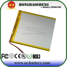 tablet PC li polymer battery 3.7v 4000mah