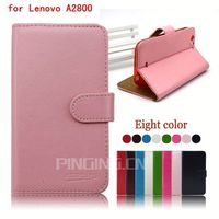 Flip wallet case book style cover for Lenovo A2800 with credit card slots leather case for Lenovo A2800