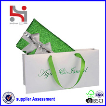 Dongguan factory Haiying oem eco packaging carry tote paper jewelry roll bag